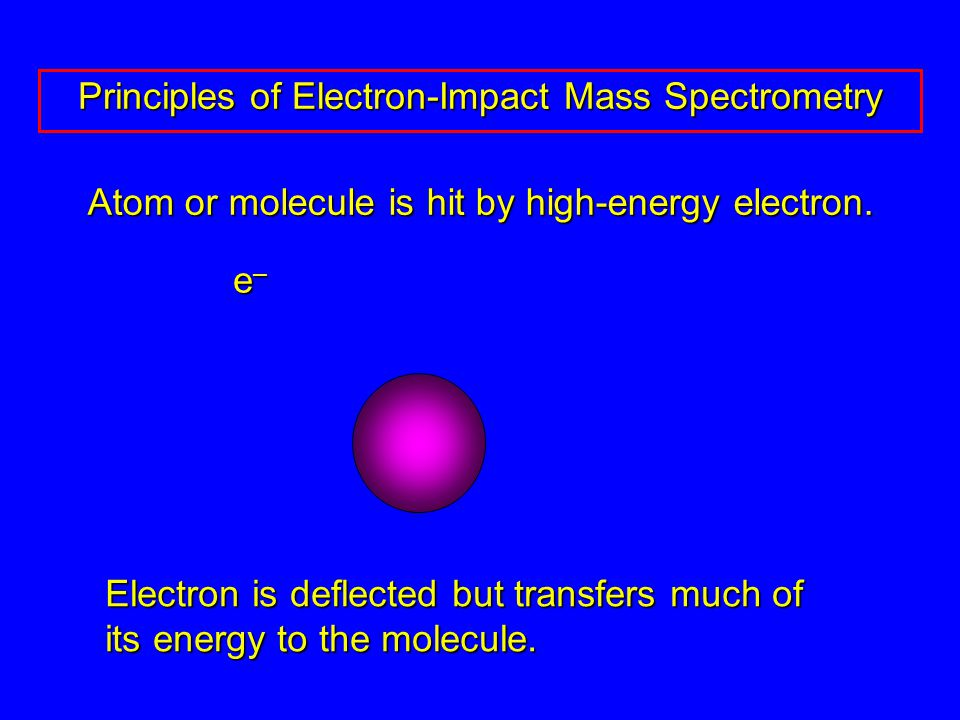 Atom or molecule is hit by high-energy electron.