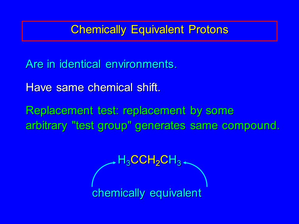 Are in identical environments. Have same chemical shift.