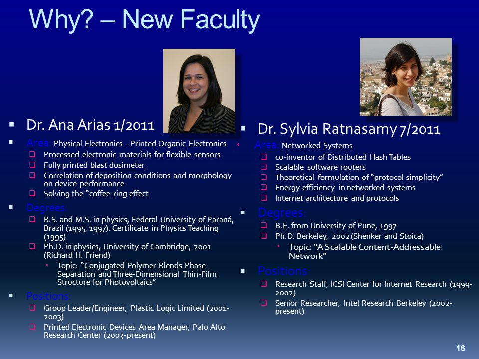 Why. – New Faculty  Dr.
