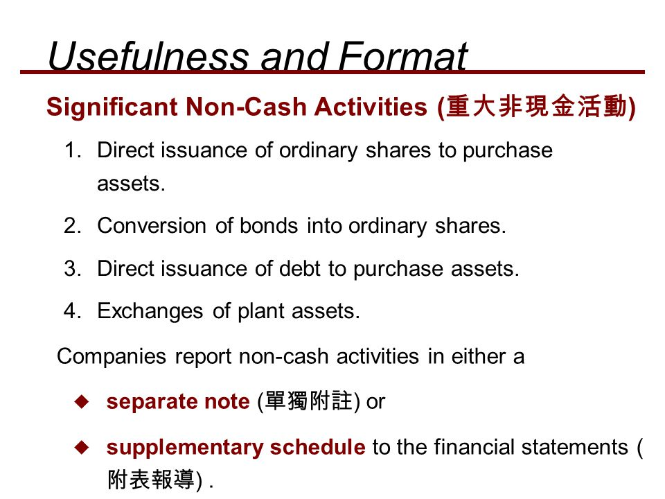 1.Direct issuance of ordinary shares to purchase assets. 2.Conversion of bonds into ordinary shares. 3.Direct issuance of debt to purchase assets. 4.E