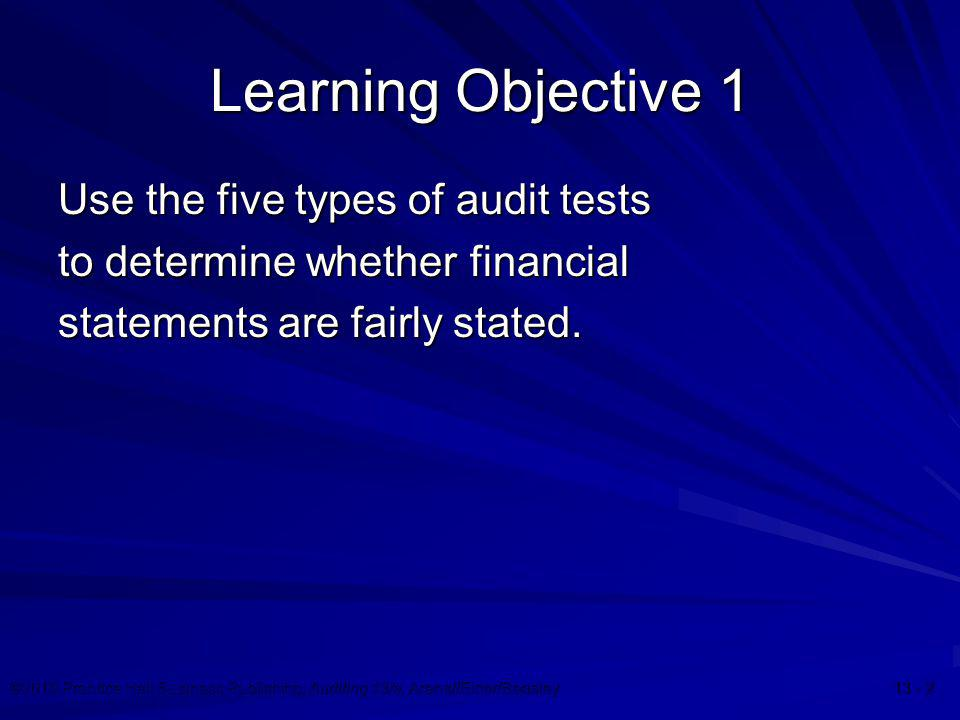 ©2010 Prentice Hall Business Publishing, Auditing 13/e, Arens//Elder/Beasley 13 - 33 Summary of the Audit Process: Phase I Set materiality and assess acceptable audit risk and inherent risk Understand internal control and assess control risk Gather information to assess fraud risks Develop overall audit plan and audit program
