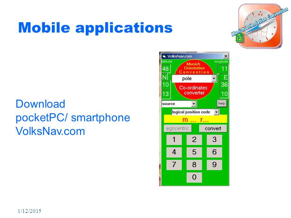 1/12/2015 Mobile applications Download pocketPC/ smartphone VolksNav.com