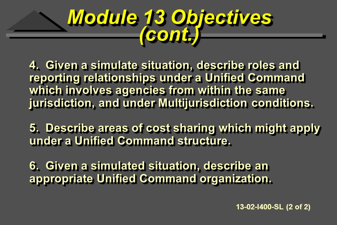 Managing in Unified Command Means: Working closely and together with other IC's.