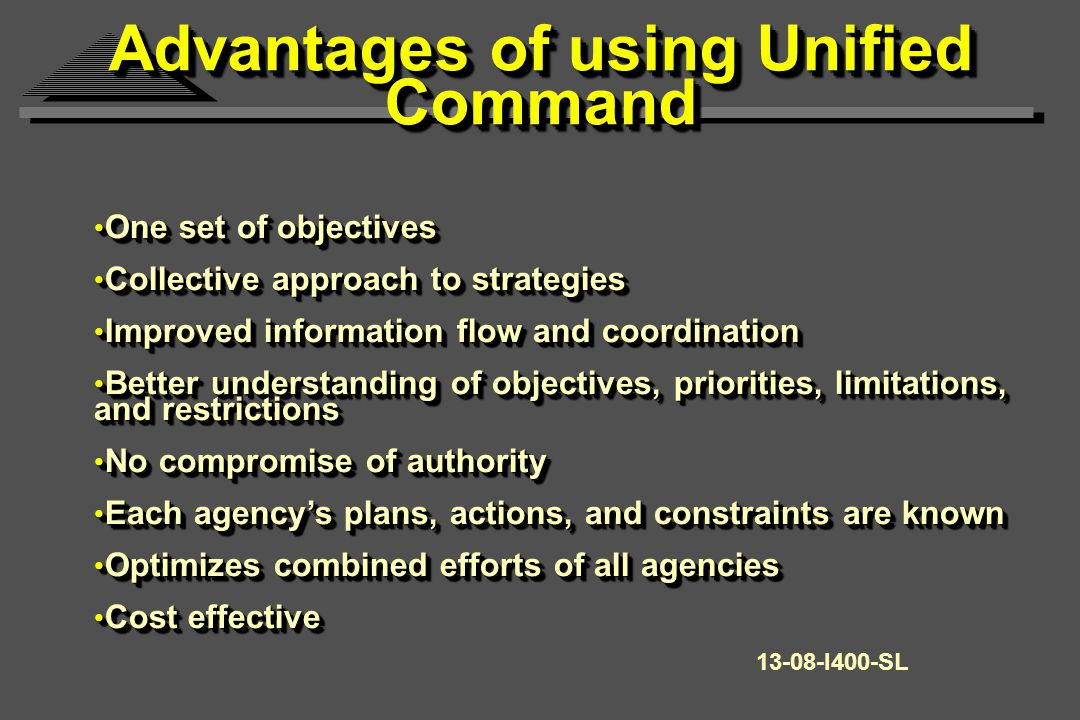 Incident Action Planning Meetings will use Command Meeting Results to: Decide on tactical operations for the next operational period.