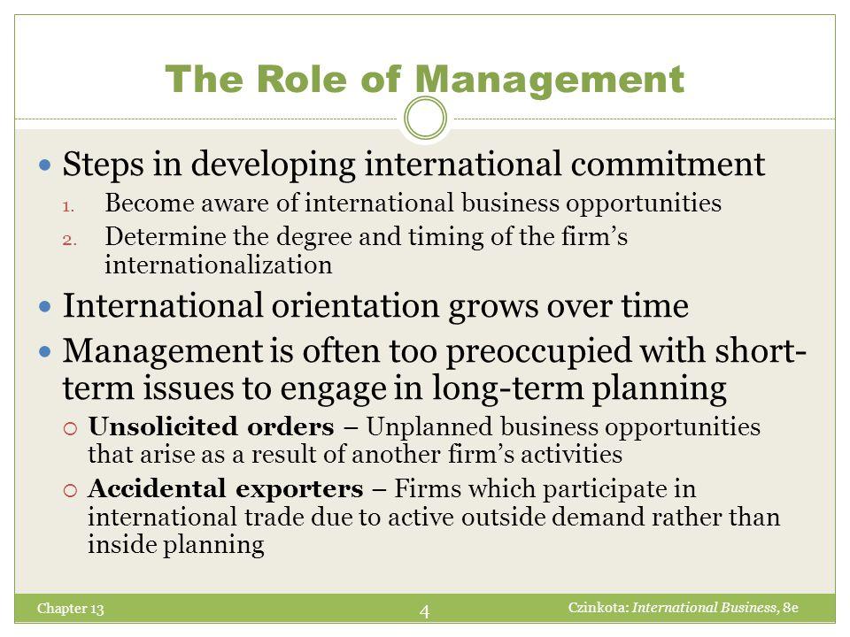 Chapter 13 15 Czinkota: International Business, 8e Public-Sector Facilitators Small Business Administration U.S.