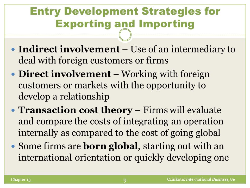 How a Trade Intermediary Can Offer Assistance Chapter 13 1.