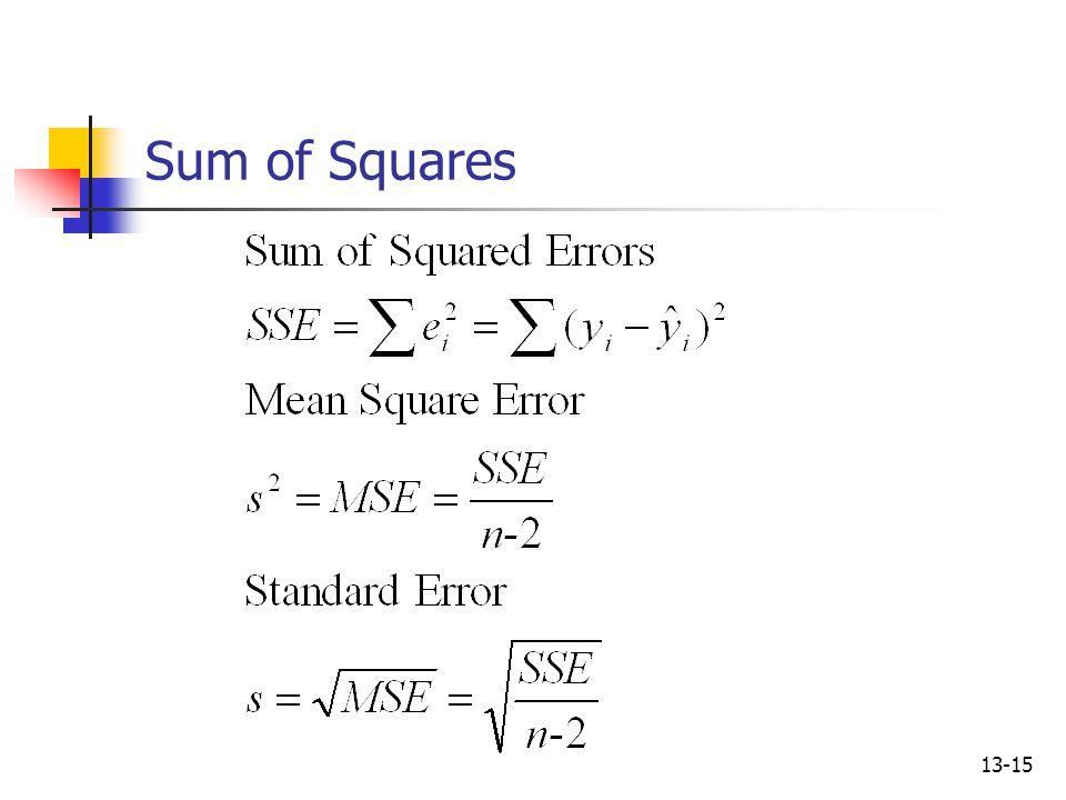 13-15 Sum of Squares