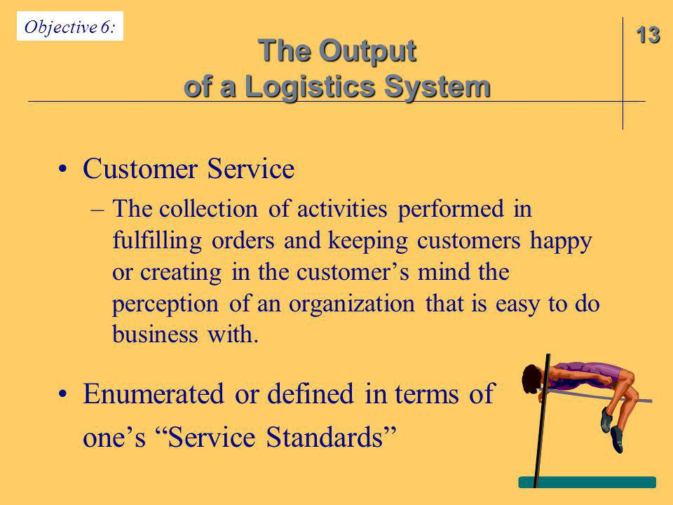 Customer Service –The collection of activities performed in fulfilling orders and keeping customers happy or creating in the customer's mind the perce