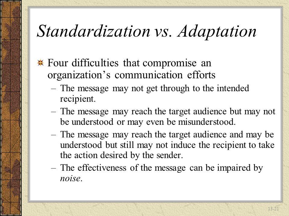 13-20 Standardization vs.