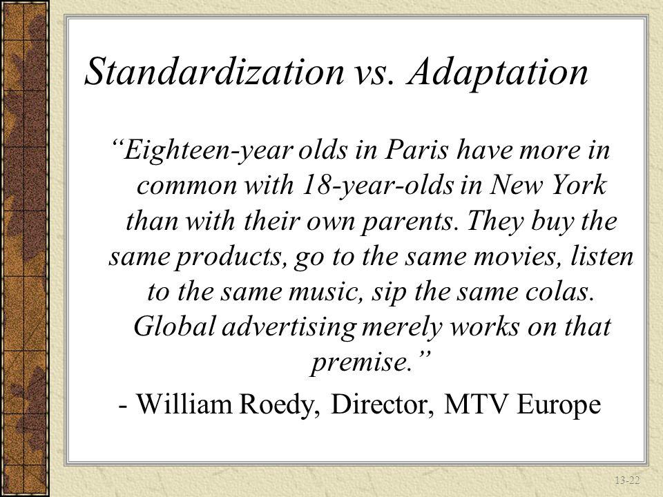 13-21 Standardization vs.