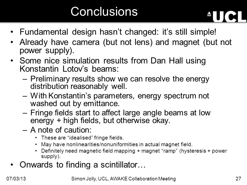 Conclusions Fundamental design hasn't changed: it's still simple.