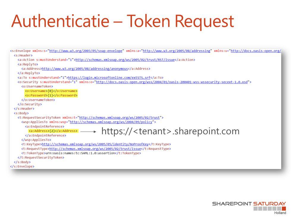 Authenticatie – Token Request
