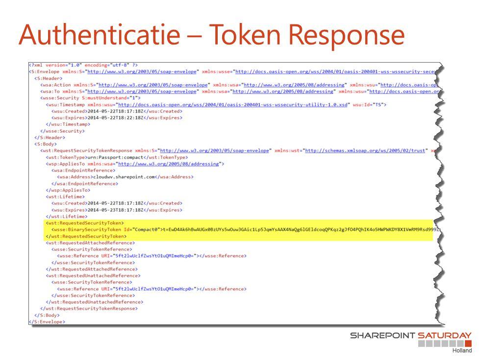 Authenticatie – Token Response
