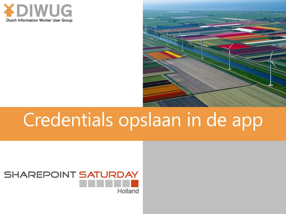 Credentials opslaan in de app