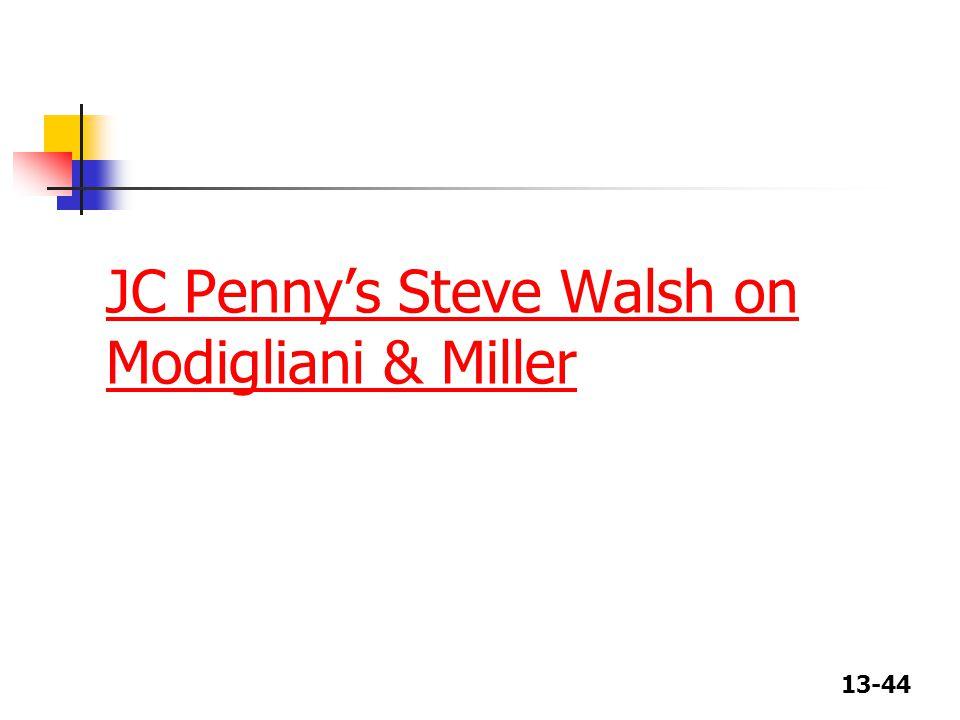 13-44 JC Penny's Steve Walsh on Modigliani & Miller