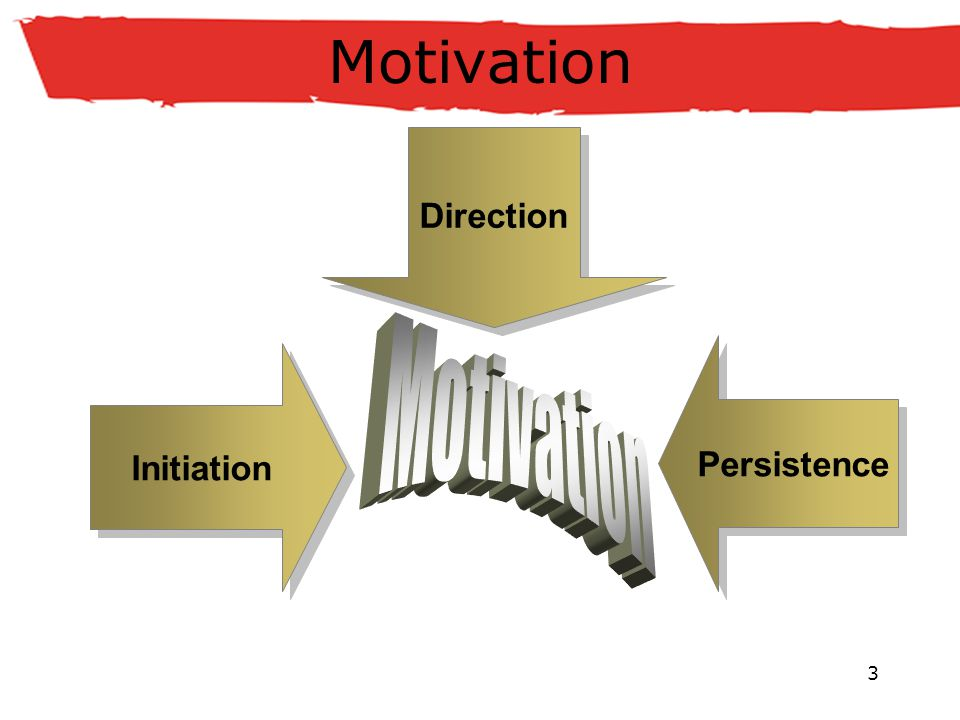 3 Motivation Initiation Persistence Direction