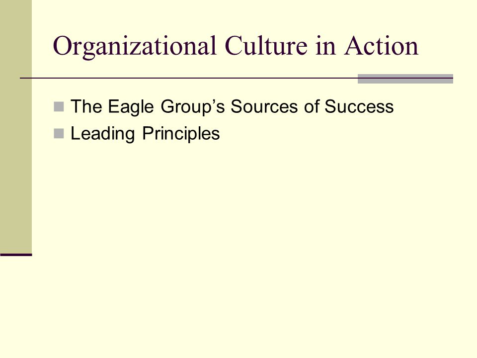 The Eagle Group's Sources of Success Leading Principles