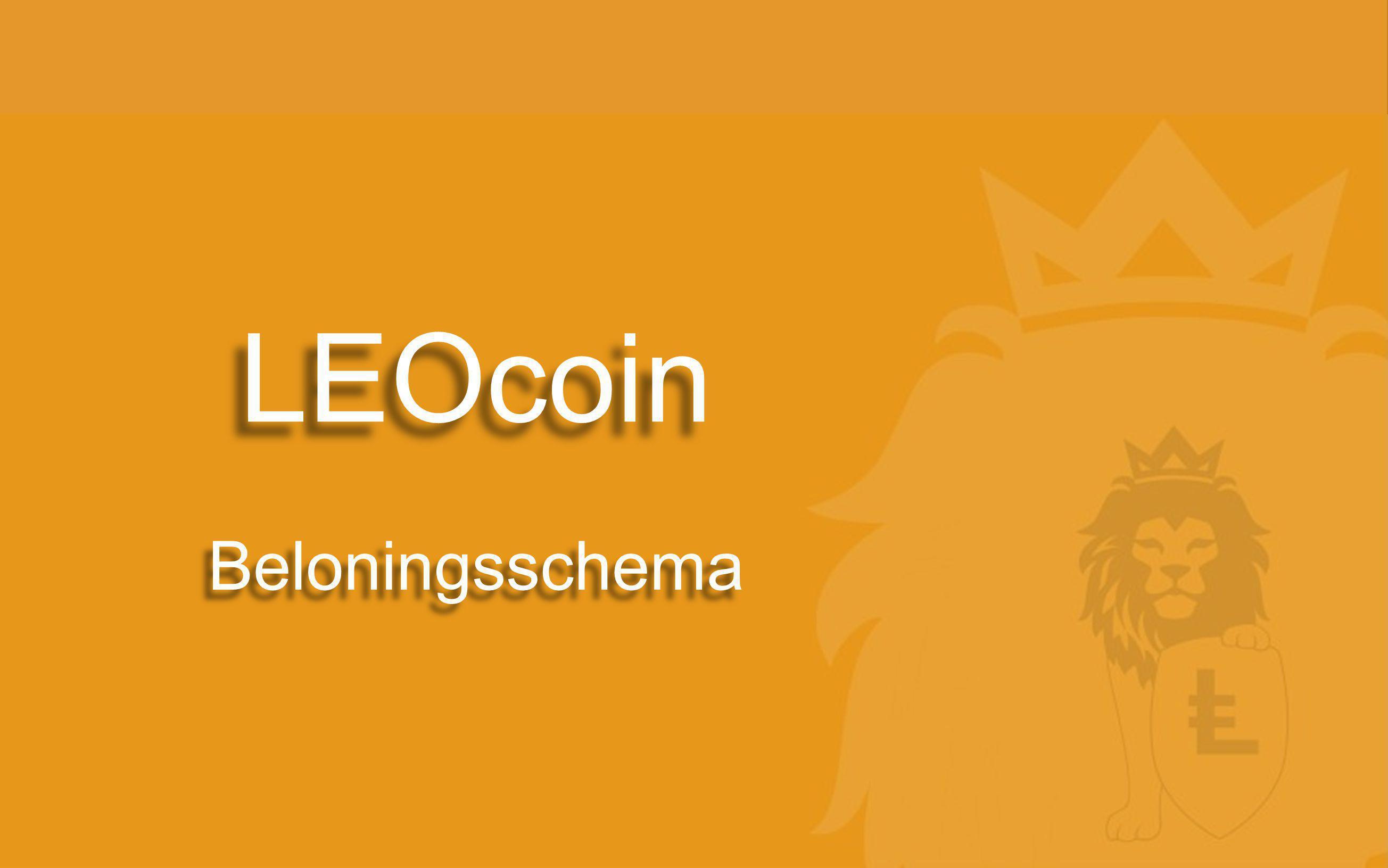 LEOcoin Beloningsschema