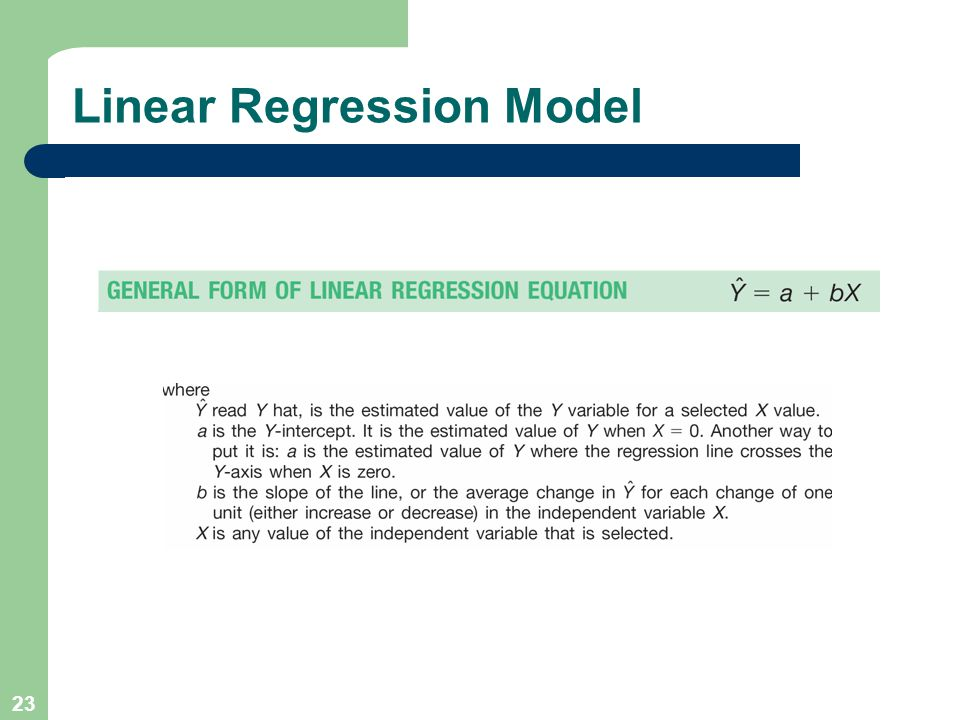 23 Linear Regression Model