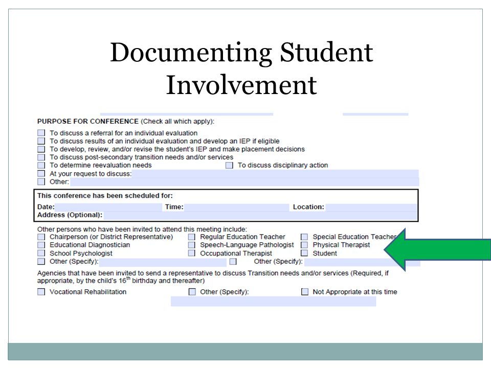 Documenting Student Involvement