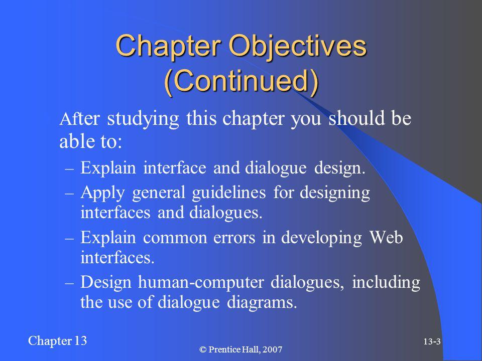 Chapter 13 13-4 © Prentice Hall, 2007