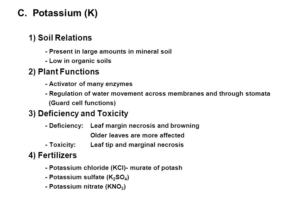 Influence of pH on Nutrient Availability