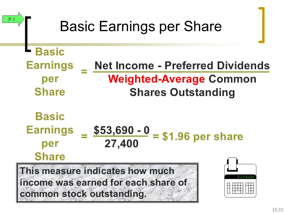 This measure indicates how much income was earned for each share of common stock outstanding.