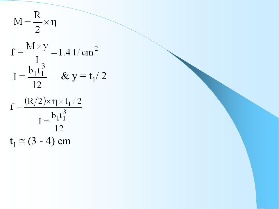 & y = t 1 / 2 t 1  (3 - 4) cm