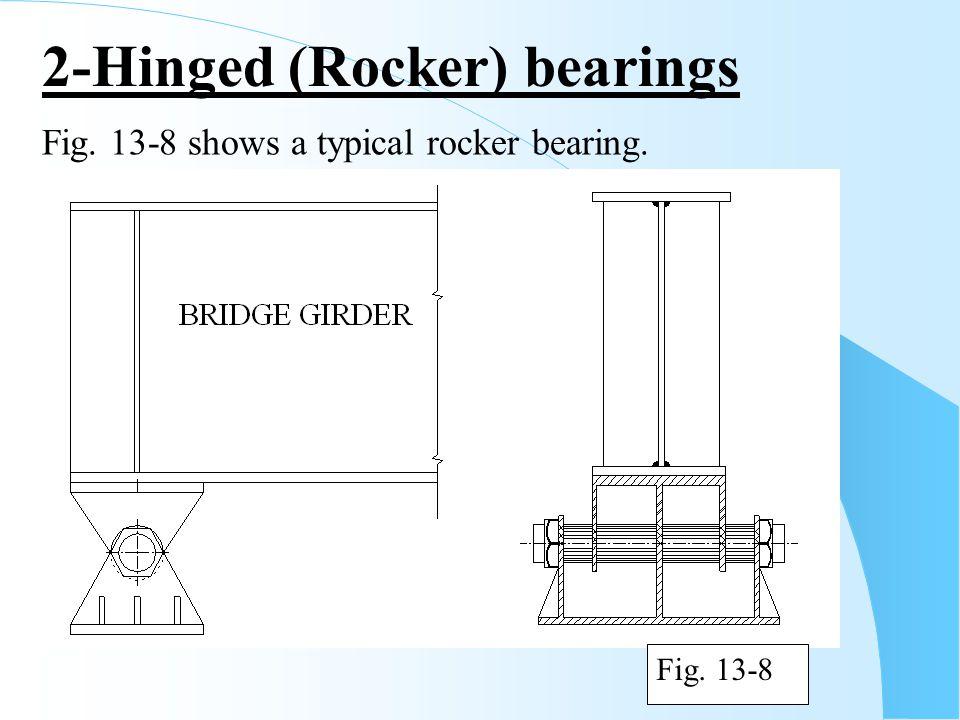 Fig. 13-8 shows a typical rocker bearing. Fig. 13-8 2-Hinged (Rocker) bearings
