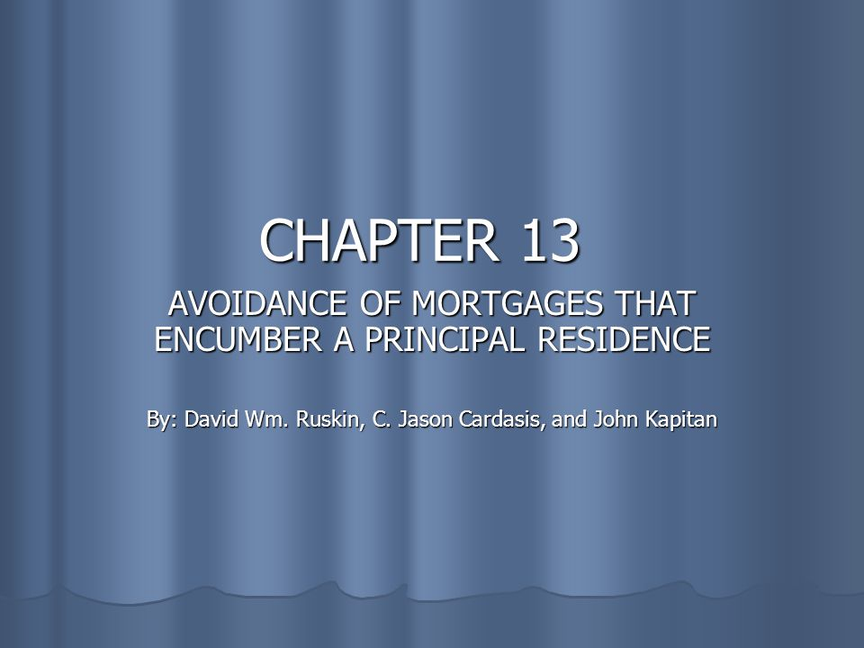 Consent Judgment Language for a Consent Judgment Language for a Consent Judgment Mortgage is avoided only upon successful completion of the Chapter 13 Plan and the debtor(s) obtaining an order of discharge.