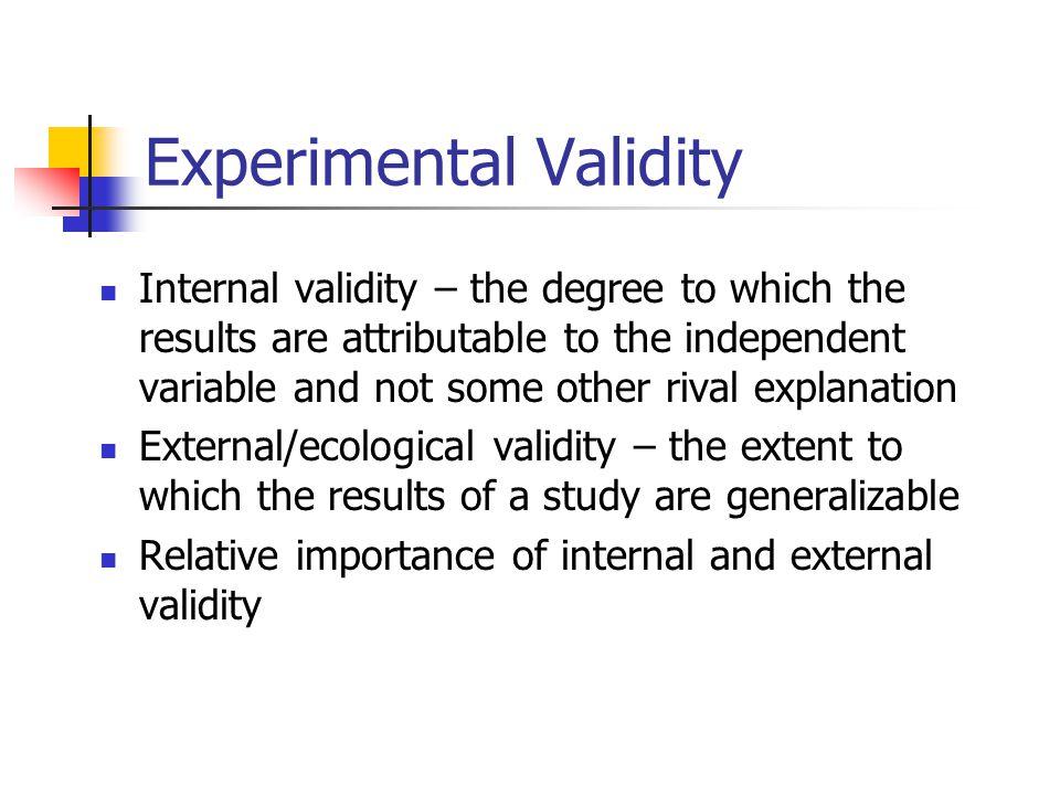 Internal Validity 9