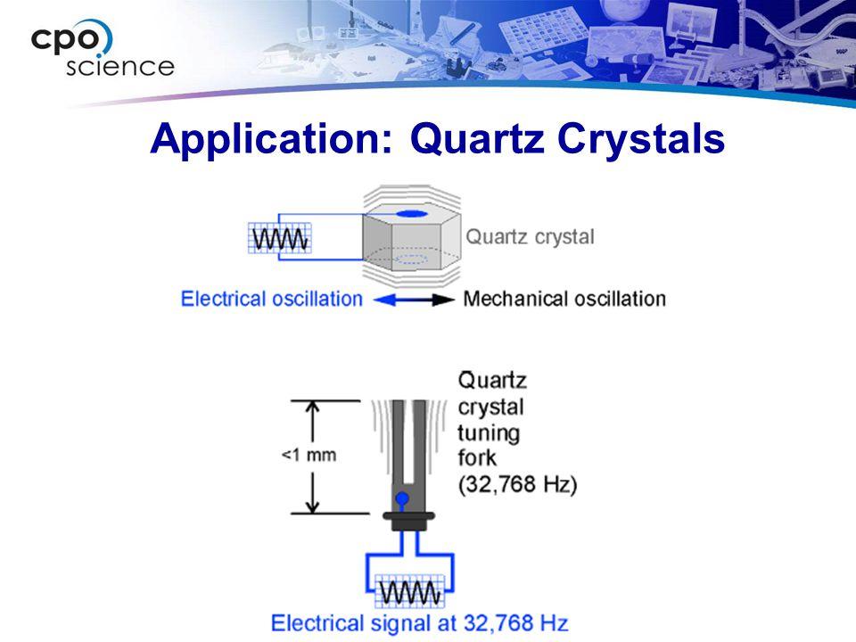 Application: Quartz Crystals