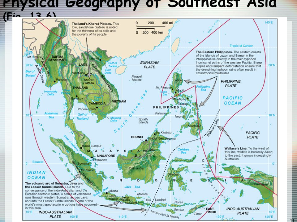 Globalization & Diversity: Rowntree, Lewis, Price, Wyckoff 11 Physical Geography of Southeast Asia (Fig.