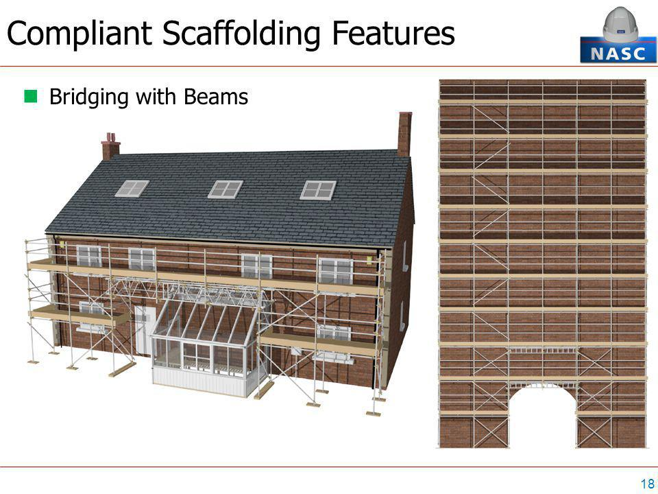 18 Compliant Scaffolding Features Bridging with Beams