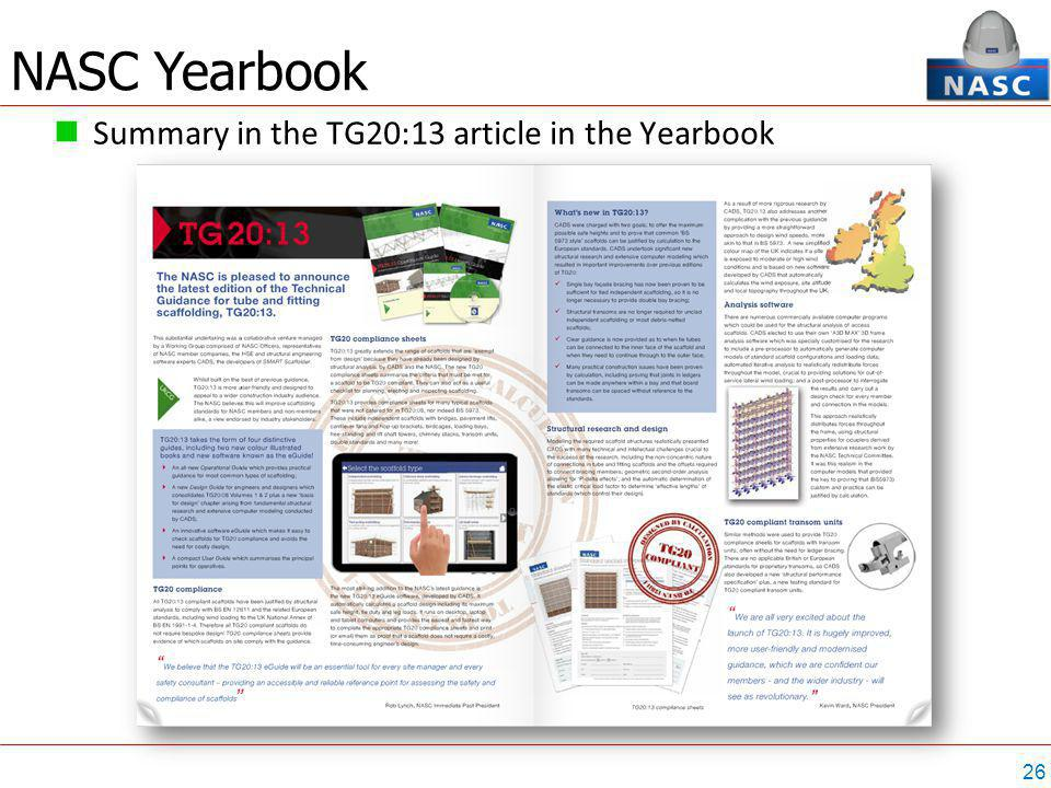 26 Summary in the TG20:13 article in the Yearbook NASC Yearbook