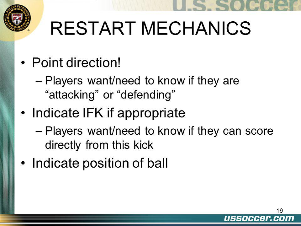18 Opponents must retire 10 yards with one exception, if they're between goalposts and on the goal line. ENCROACHMENT