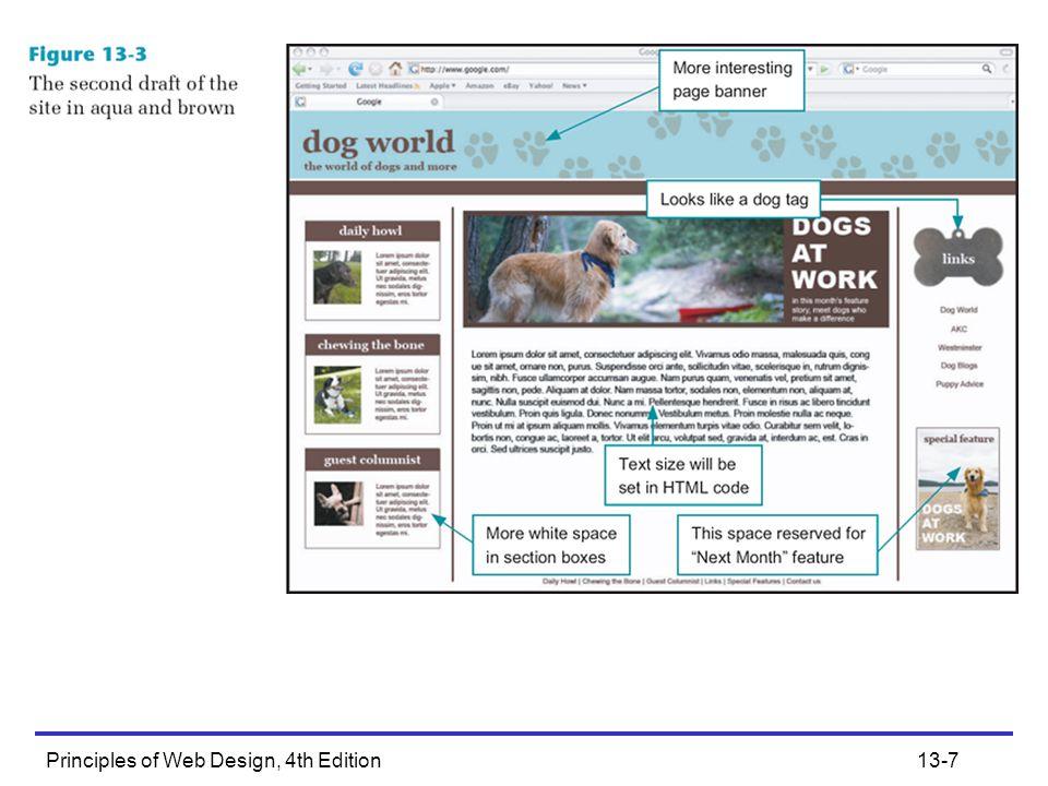 Principles of Web Design, 4th Edition13-8