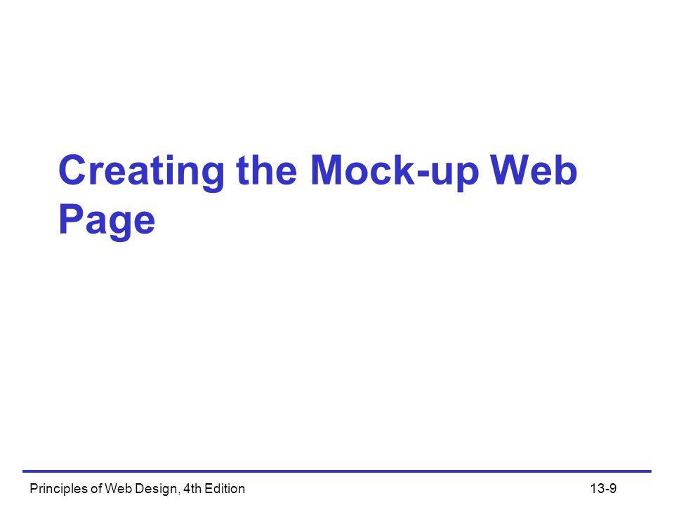Principles of Web Design, 4th Edition13-20
