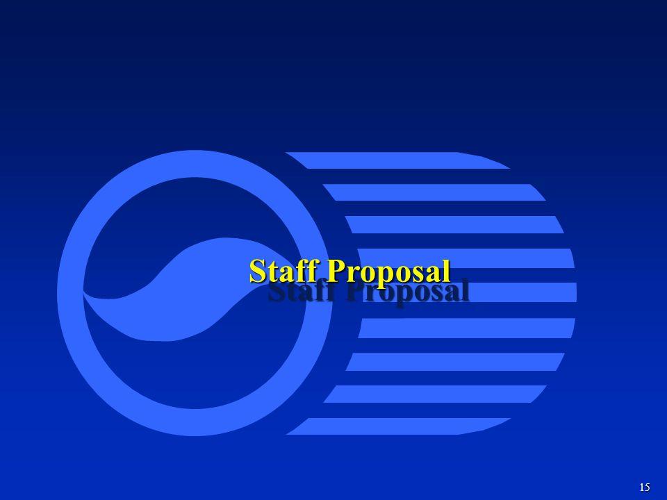 15 Staff Proposal