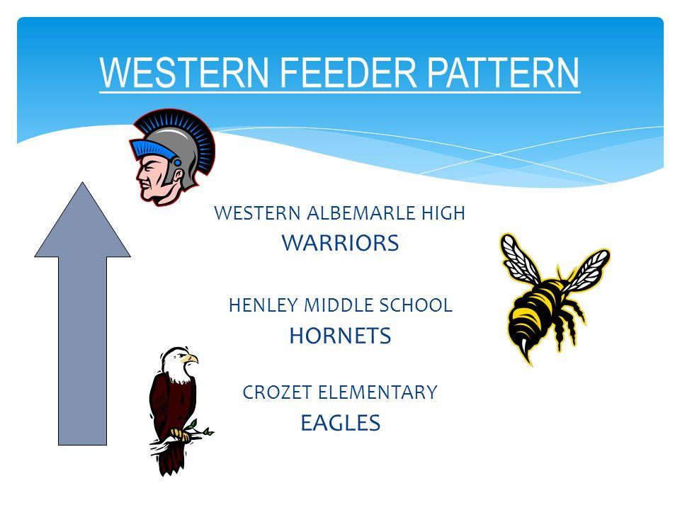 WESTERN ALBEMARLE HIGH WARRIORS HENLEY MIDDLE SCHOOL HORNETS CROZET ELEMENTARY EAGLES WESTERN FEEDER PATTERN