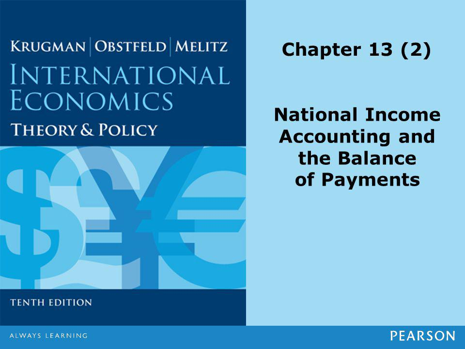 Chapter 13 (2) National Income Accounting and the Balance of Payments