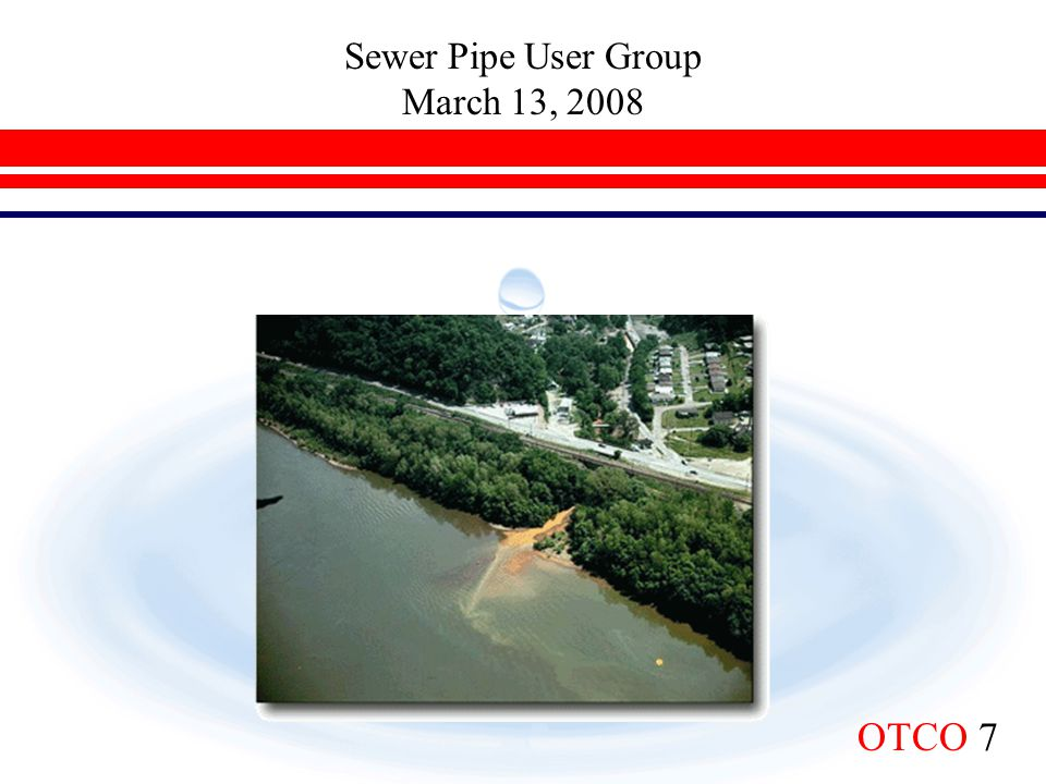 Sewer Pipe User Group March 13, 2008 The quest form pure water began during Prehistoric Times