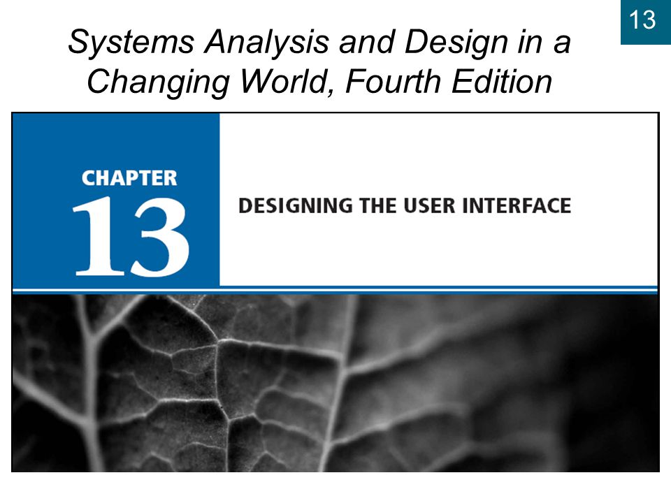 13 Systems Analysis and Design in a Changing World, Fourth Edition