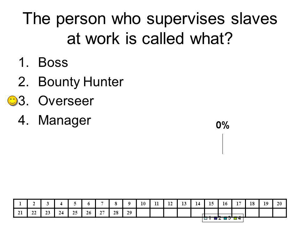 The person who supervises slaves at work is called what.