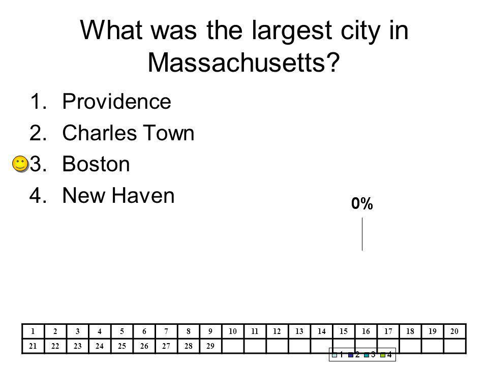What was the largest city in Massachusetts.