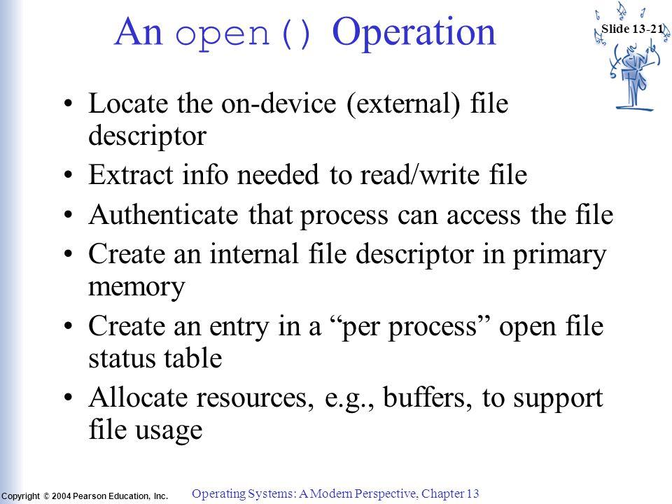 Slide 13-21 Copyright © 2004 Pearson Education, Inc.