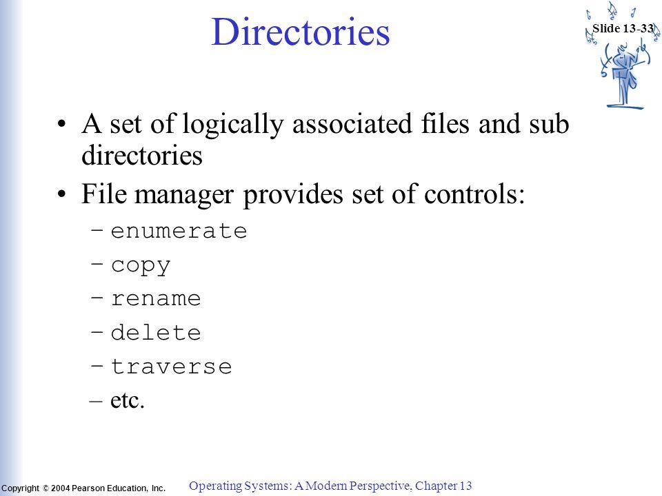 Slide 13-33 Copyright © 2004 Pearson Education, Inc.