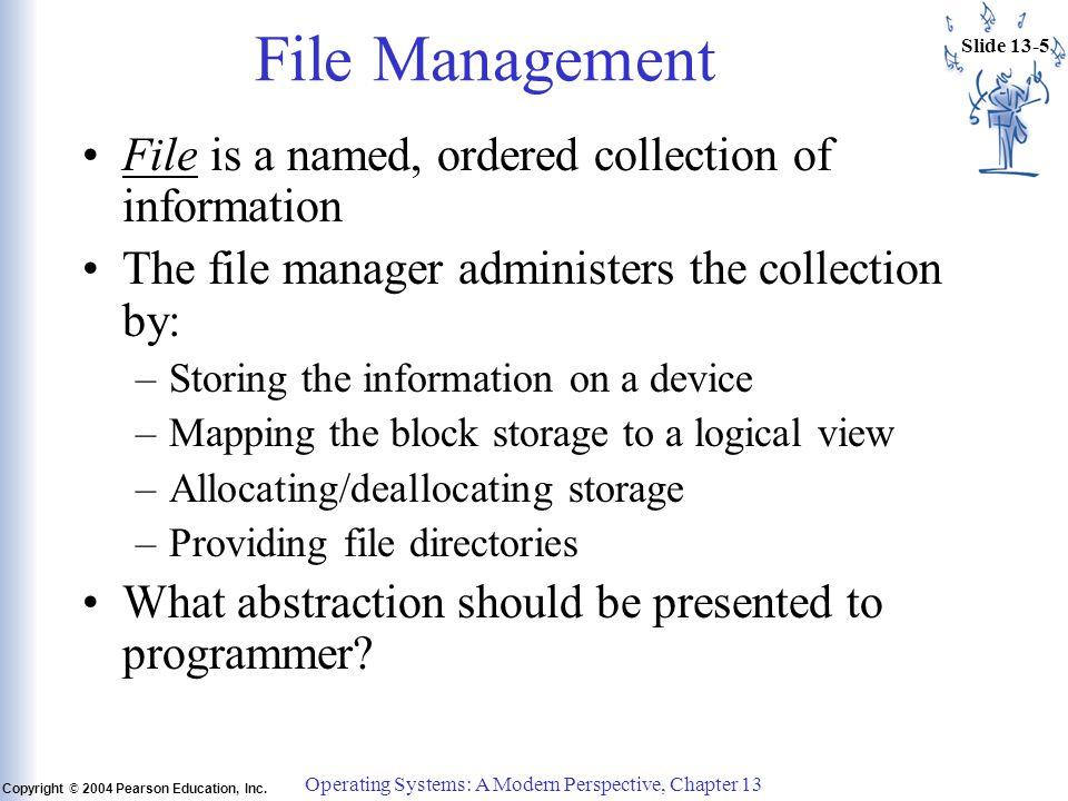 Slide 13-5 Copyright © 2004 Pearson Education, Inc.