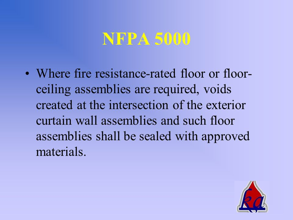2002 Changes to the IBC FS41-02 submitted by Metal Construction Association –..for the time period equal to the fire-resistance rating of the exterior curtain wall assembly, or 30 minutes, whichever is greater.