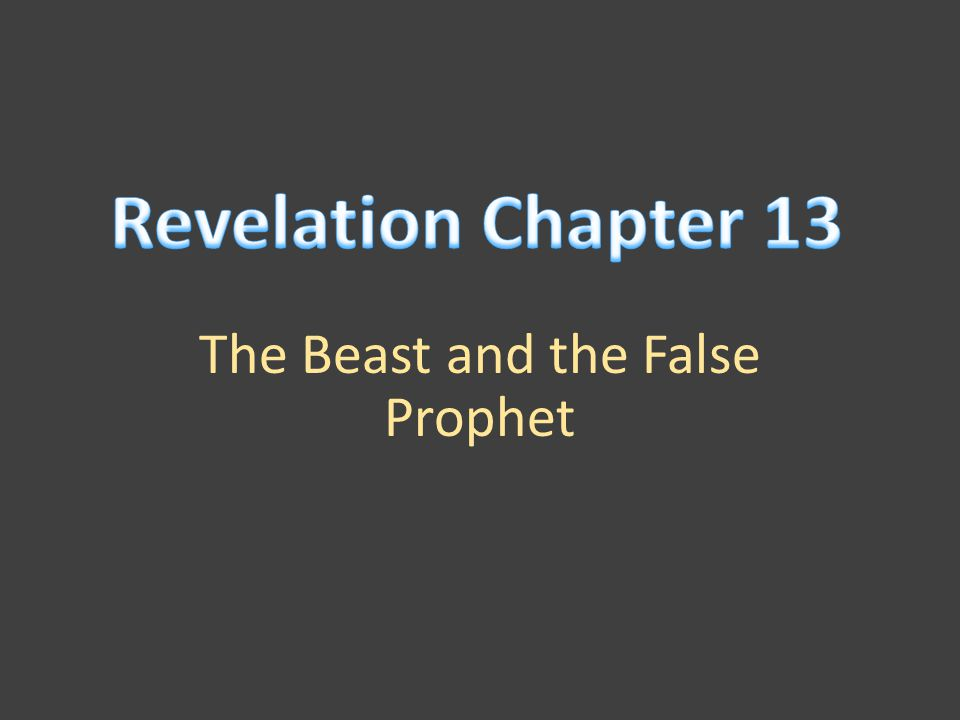 The Beast and the False Prophet